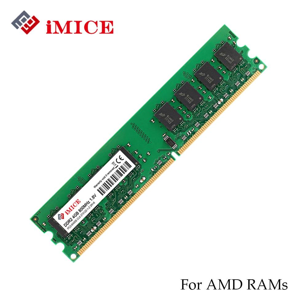 IMICE 4 GB DDR2 AMD Desktop PC Montoni 667 MHz PC2-5300S 800 MHz DIMM 2 GB di Memoria 240-pins di Alta Qualità RAM del computer di Garanzia Per Tutta La Vita