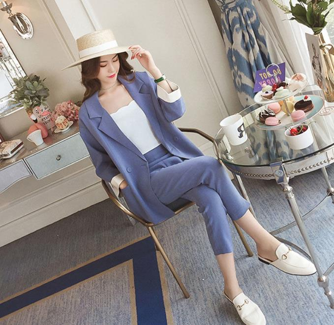 Office Lady 2 Piece Set Women Two Piece Outfits Woman Suits Lady Suit Office Conjunto Feminino Year-old Female Costume Ukraine