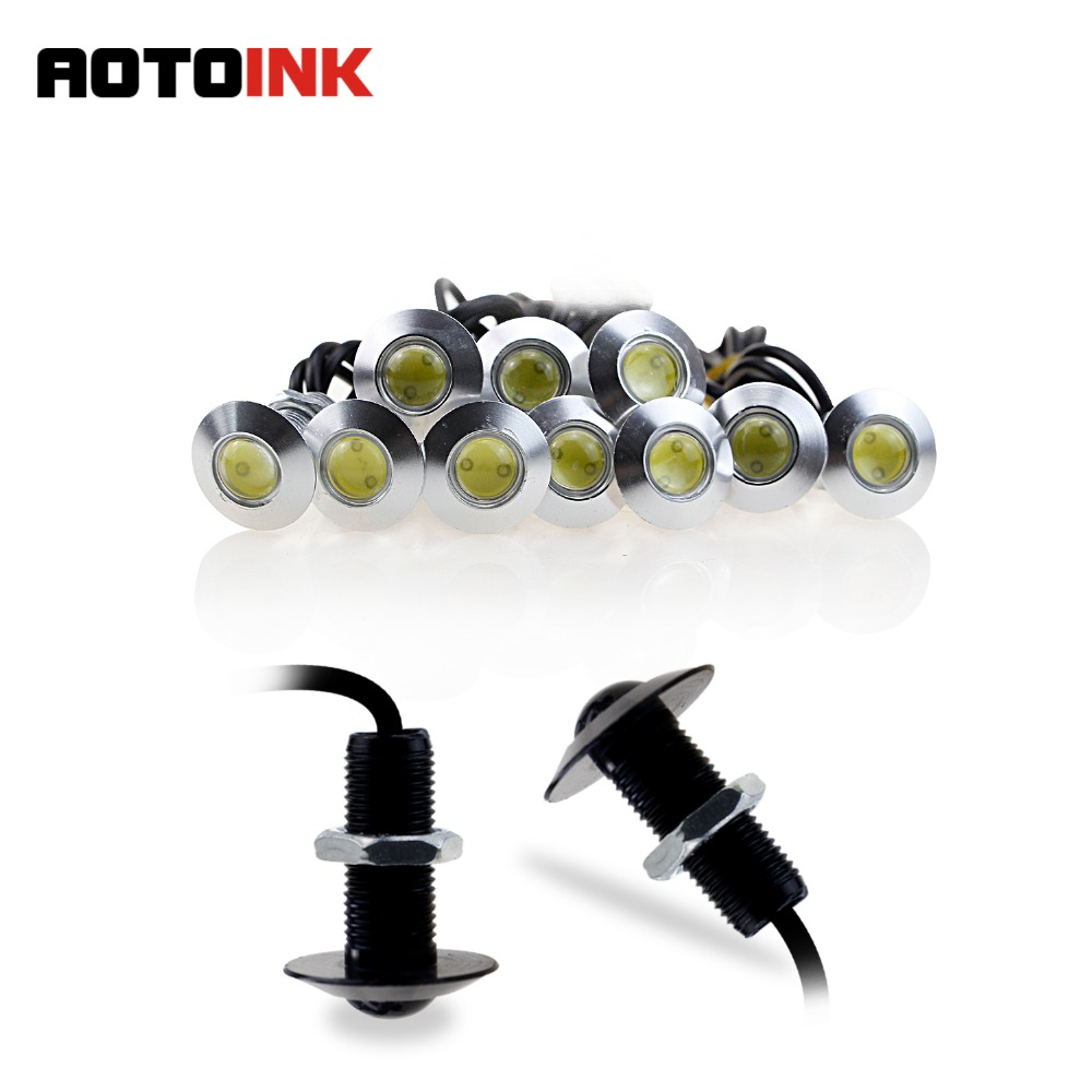 AOTOINK 1pcs Ultra Thin 23mm 12V Car LED Eagle Eye DRL Daytime Running Light Source Waterproof Lamp Parking Warning Light AE