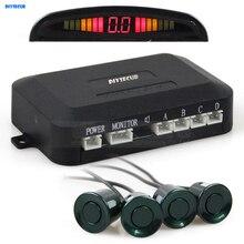 DIYSECUR Car Parking Radar Sensors Backup Radar System with LED Backlight Display + 4 Sensors