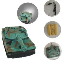 Electronic RC Tank Remote Control Off-road 1/20 9CH 27Mhz With Cannon & Emmagee Music LED Rechargeable Toys For Children