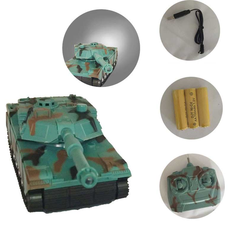 RC Tank With Cannon & Emmagee Music LED Remote Control Off-road Tank Electric Tank Rechargeable Military Model For Boys Under 14 hanes little boys tank
