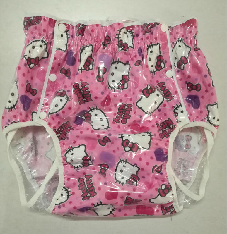 Free Shipping Nicediaper2221 Pink Cat Diaper Cover-4618
