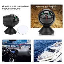 Black Electronic Adjustable Military Marine Ball Night Vision Compass for Car Boat Vehicle accessories