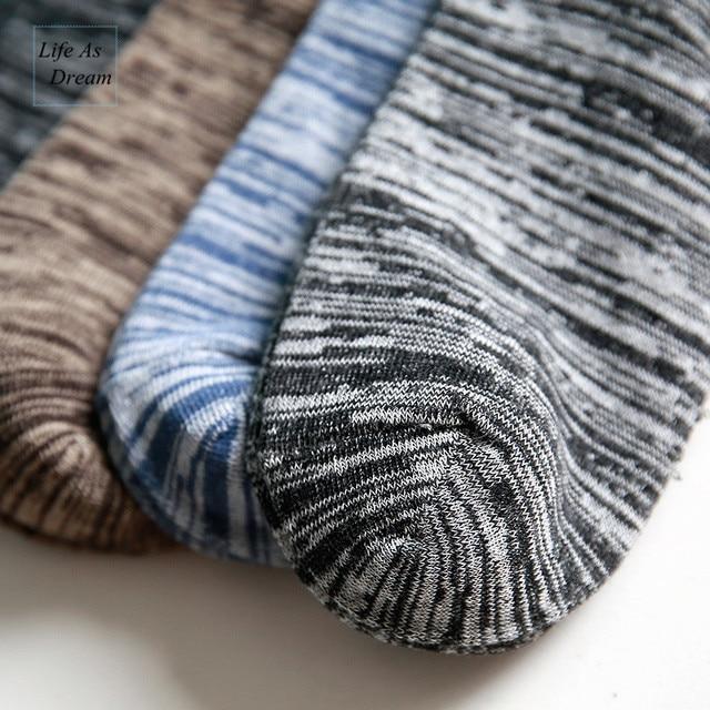 (5 pairs / lot ) brand men socks Free shipping combed cotton colorful dress socks no gift box Fashion Casual Classic Boat Sock Socks