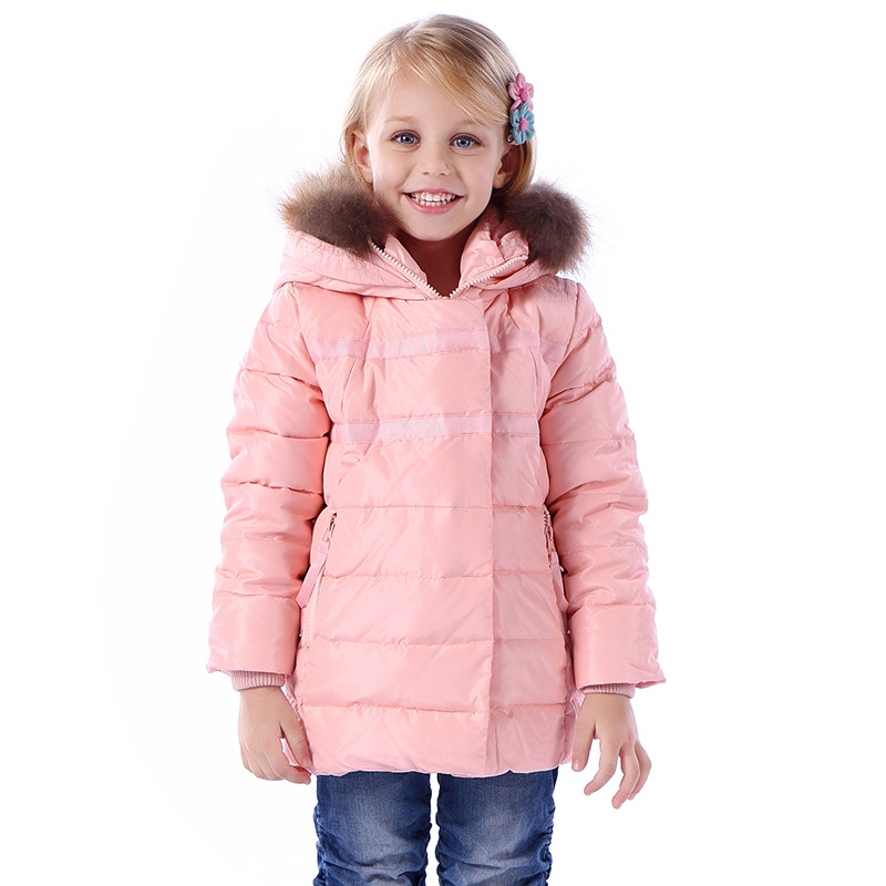 New arrival Casual Children Parka Girls Winter Coat Long Duck Down Jacket Girl Thick Faux Fur Hooded Winter Jacket For Girls mioigee girls fashion fur collar winter outerwear hooded thick children girls long duck down jacket coat high quality