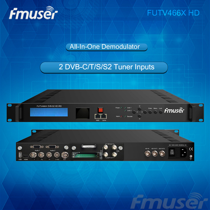 FUTV466xH HD IRD 2 tunner CAM MUX HD (DVB-C/T/T2/S/S2 ) in 2 ASI ip out SNMP, Web
