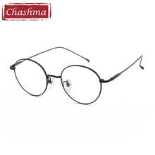 Prescription Glasses Titanium Round Vintage Eyeglasses Women Spectacle Frames Retro Optical Eyewear Student Fashion
