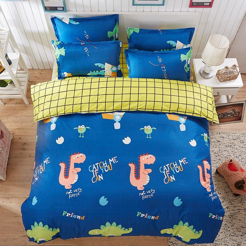 JU Home Textiles Cartoon Style 3/4pcs Bedding Sets Duvet Cover Bed Sheet Pillowcase Bed Linen Boy Girl Child Bedclothes
