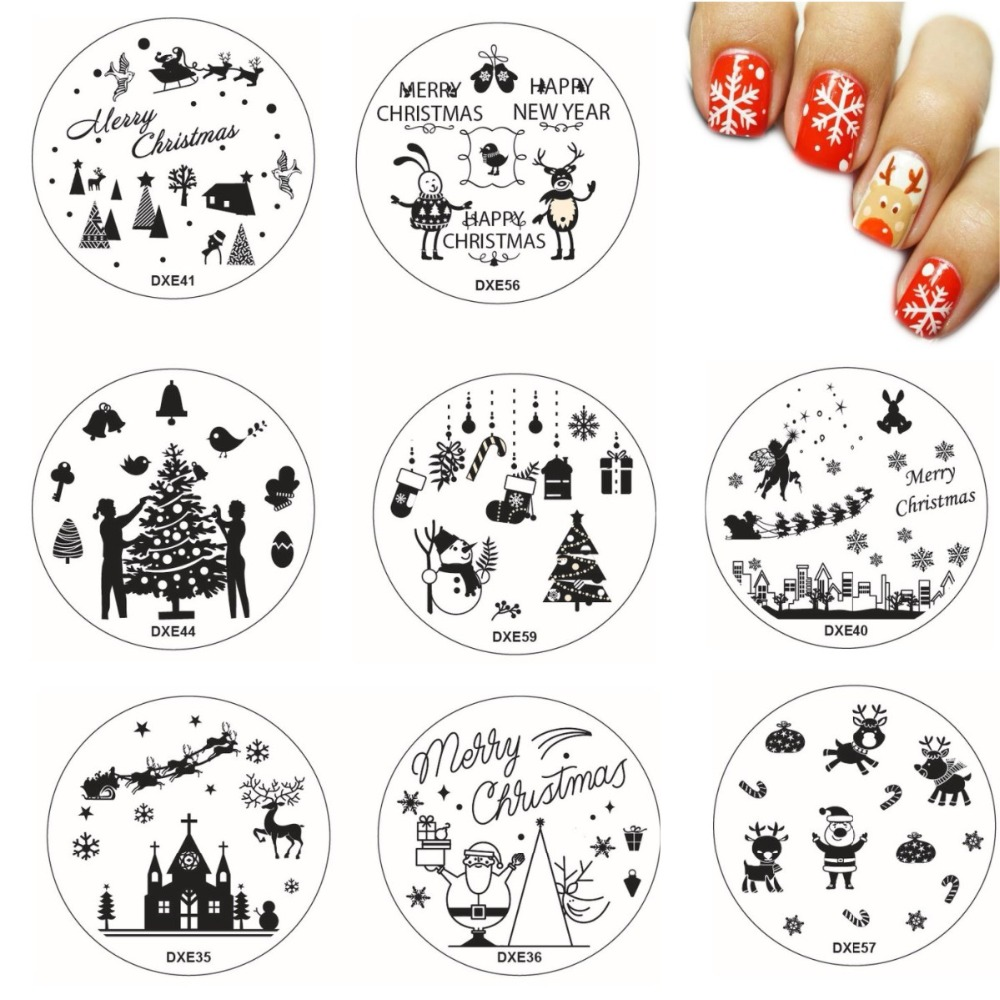 Nails Art & Tools Xmas Deer Fireworks Nail Art Stamping Plates 30 Designs Nails Template Snowflake Heart Style Christmas Image Plates Jw112 Do You Want To Buy Some Chinese Native Produce?