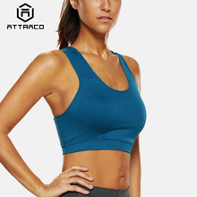 Attraco Womens Mid Impact Sports Bra Fitness Yoga Breathable Running Workout Racerback Top
