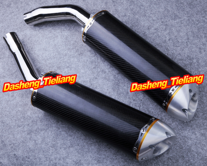 Motorcycle Exhaust Muffler Silencer for Yamaha 2004 2005 2006 YZF R1 Carbon Fiber + Stainless Steel 04 05 06