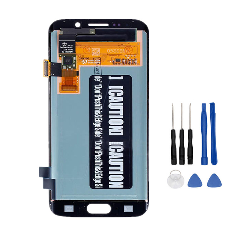 5.1'' Display Super AMOLED For SAMSUNG Galaxy S6 Edge LCD + Frame G925 G925F G925I Touch Screen Digitizer Replacement
