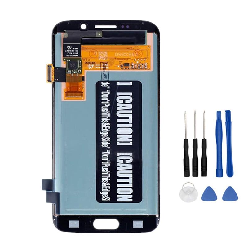 5.1 ''Affichage Super AMOLED Pour SAMSUNG Galaxy s6 bord LCD + Cadre G925 G925F G925I Écran Tactile Digitizer Remplacement