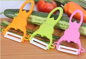 1PC Cute Pink Vegetable Fruit Peeler Parer Julienne Cutter Slicer Kitchen Easy Tools Gadgets Helper KX 196