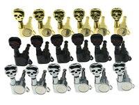 KAISH 6 Inline 6R Verzegelde Schedel Knop Gitaar Tuners Tuning Keys Pinnen Machine Heads voor Strat Tele Gitaren 3 Kleuren