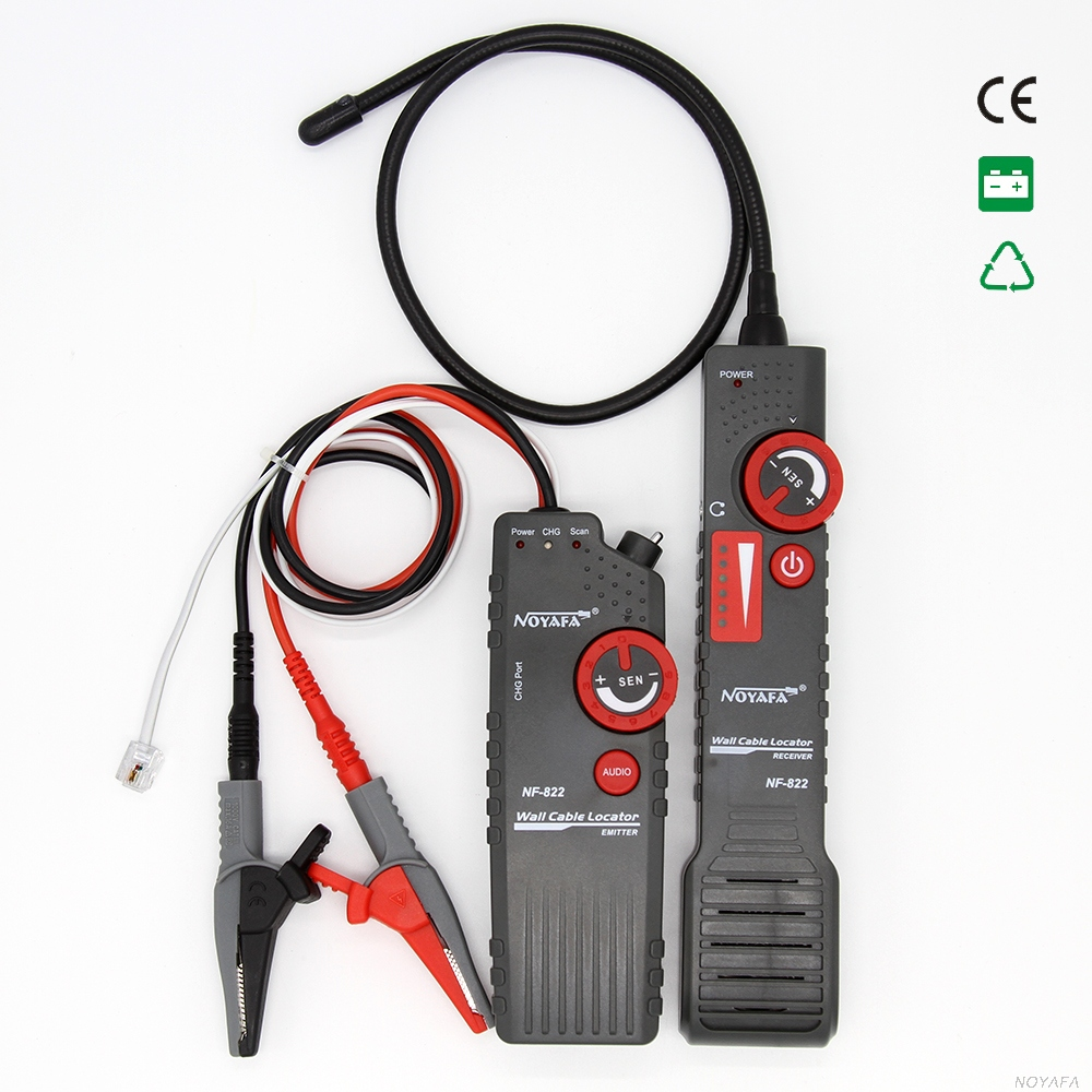Noyafa nf 822 underground cable locator 0 0 3m depth cable length tester 1000m for High