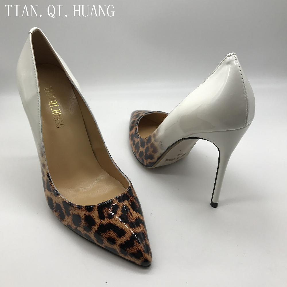 New Women Pumps Shoes High Heels Designer Patent Leather Wedding Bridal Shoes Sexy Women's Shoes With Heels TIAN.QI.HUANG Brand 1