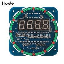 58a76240 DS1302 цифровой светодио дный Дисплей модуль сигнализации Электронные  цифровые часы светодио дный таймер Температура Дисплей DIY