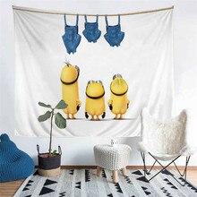 HELENGILI Home Furnishing Funny Little Yellow Man Tapestry Wall Hanging Sandy Beach Picnic Throw Rug Camping Tent Sleeping Pad