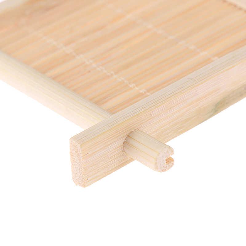 Drewniany pojemnik na mydło tacka naturalny bambus pojemnik do kąpieli prysznic płyta mydelniczka łazienkowa drewniane pudełko do przechowywania na mydło pojemnik na talerze