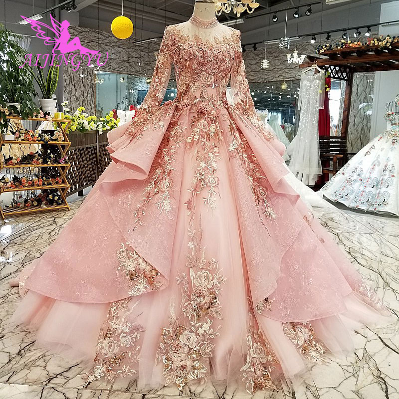 Aijingyu Princess Ball Gown Wedding Dresses Open Back For Sale Big