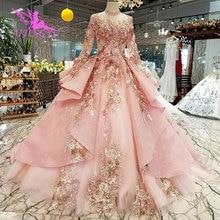 AIJINGYU 夜会服のウェディングドレスオープンバック販売のビッグサイズシルクロシアヴィンテージ無地ドレス格安ブライダルドレス