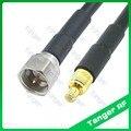 Heißer Verkauf MCX stecker auf F stecker gerade RF RG58 Zopf Jumper Koaxialkabel 3 füße 100 cm Hohe qualität|Steckverbinder|Licht & Beleuchtung -
