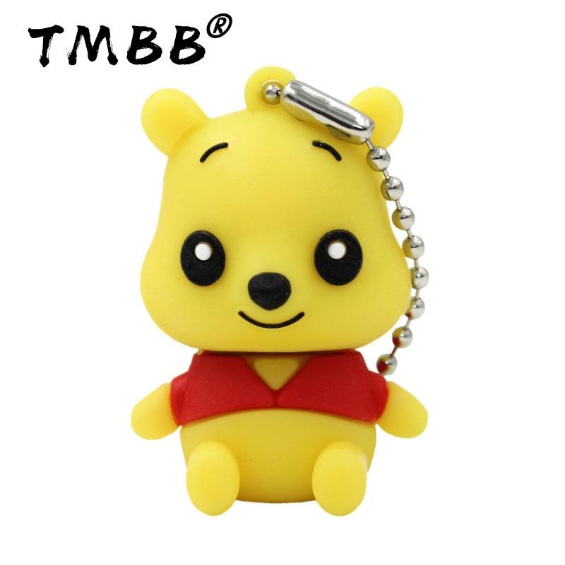 BiNFUL Cartoon Super Cute Bear USB Flash Drives 64GB Mini Pendrive 128G 32GB 8GB 16G 4GB Memory Stick Pen Drive Flash Disk Gifts