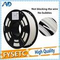 Top Quality Cor Branca Materiais de Impressão PLA 1.75 milímetros Filamento 1.75 KG 1 3D Caneta Acessórios de Plástico Extrusora de Impressora
