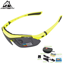 Armteeth Polarized Sports Men Sunglasses Road Cycling Glasses UV Protection Mountain Bike Bicycle Riding Goggles Eyewear 5 Lens