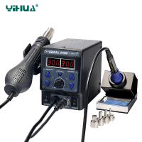 YIHUA 8786D New Upgrade 2 in 1 Soldering Station SMD Hot Air Rework Anti static Thermostatic Soldering Iron Desoldering Stations