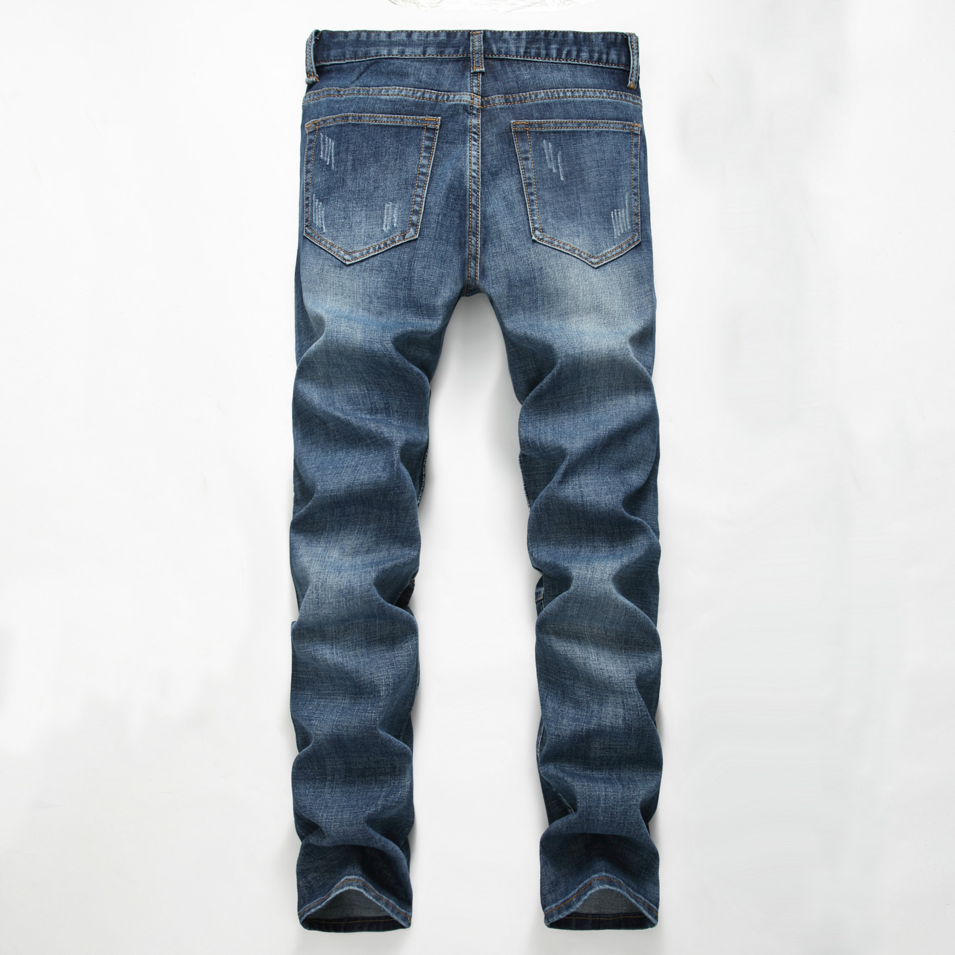 New TANGYAXUAN Brand Men   Jeans   Fashion Designer Distressed Ripped   Jeans   Men Straight Fit   Jeans   Homme,Cotton High Quality   Jeans