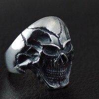 Тайское ювелирное мужское кольцо трещина Голова Череп Таро 925 пробы Серебряное тайское серебряное кольцо