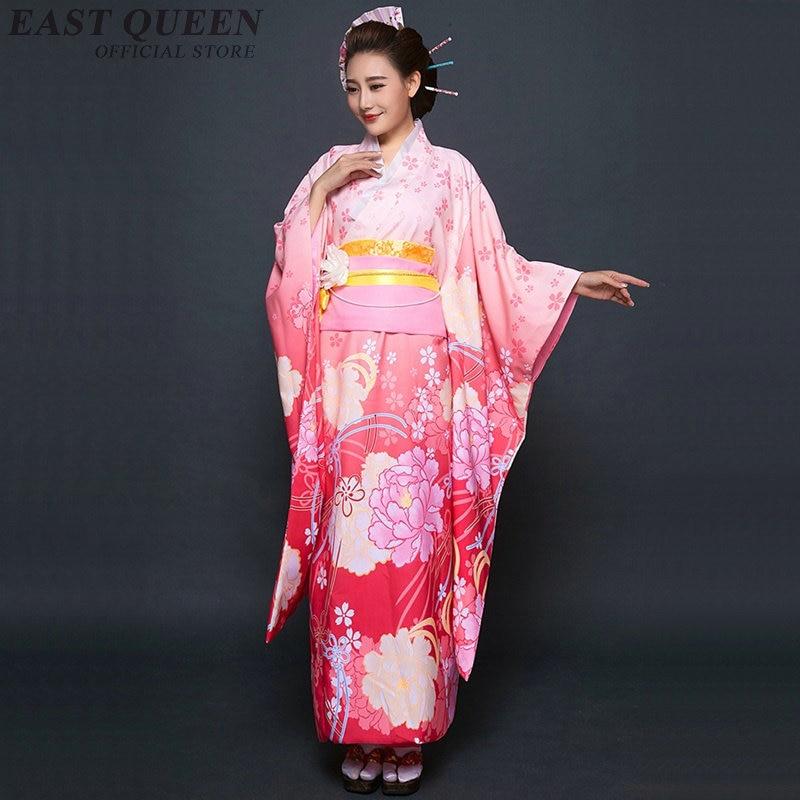 Japanese Geisha Costume Yukata Obi Traditional Japanese Kimonos Geisha Kimono Traditional Japanese Clothes    KK2254