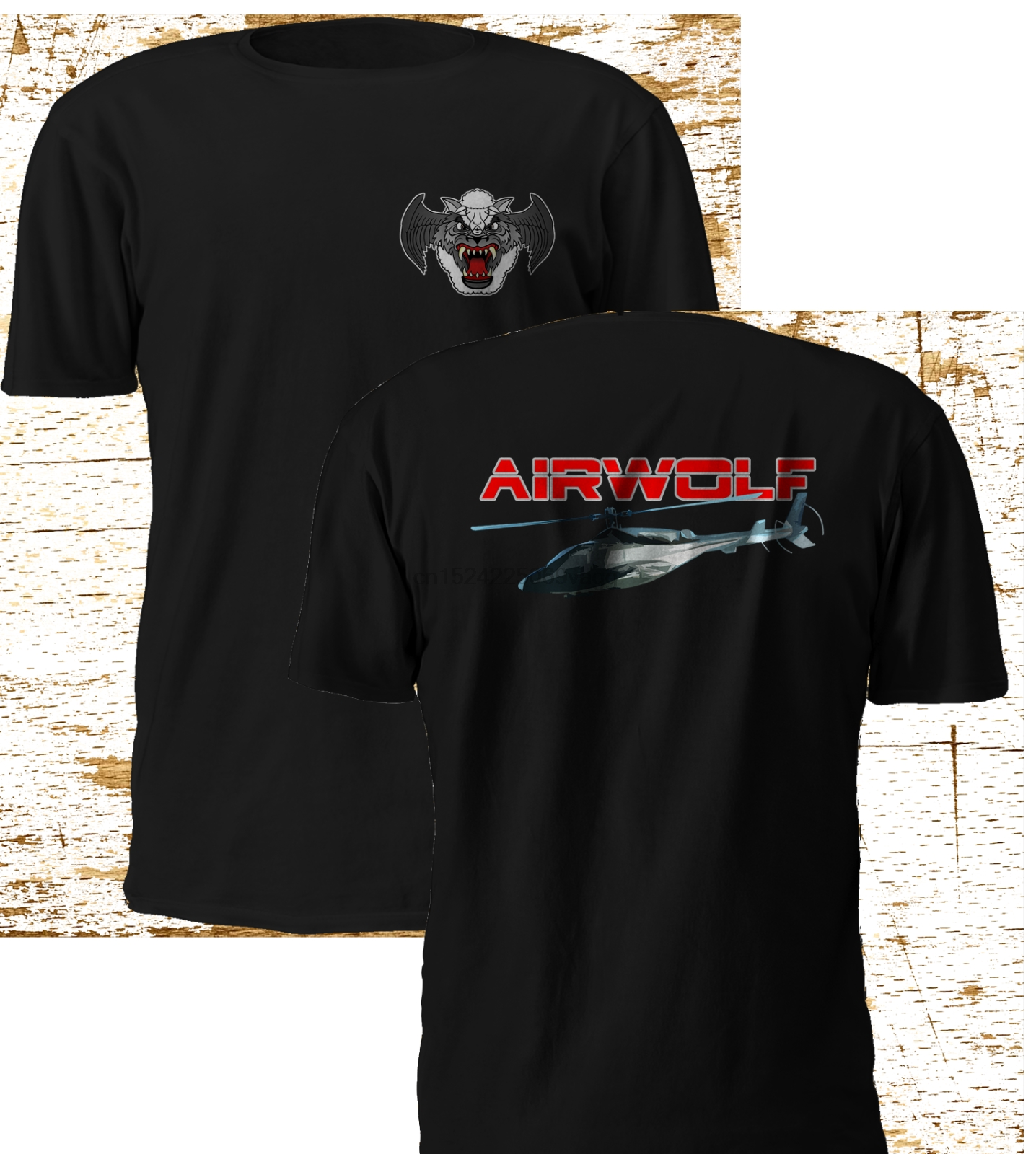 New Rare Airwolf Helicopter Combat Tv Series Blue Thunder Black T Shirt S-3xl Men's Clothing Tops & Tees