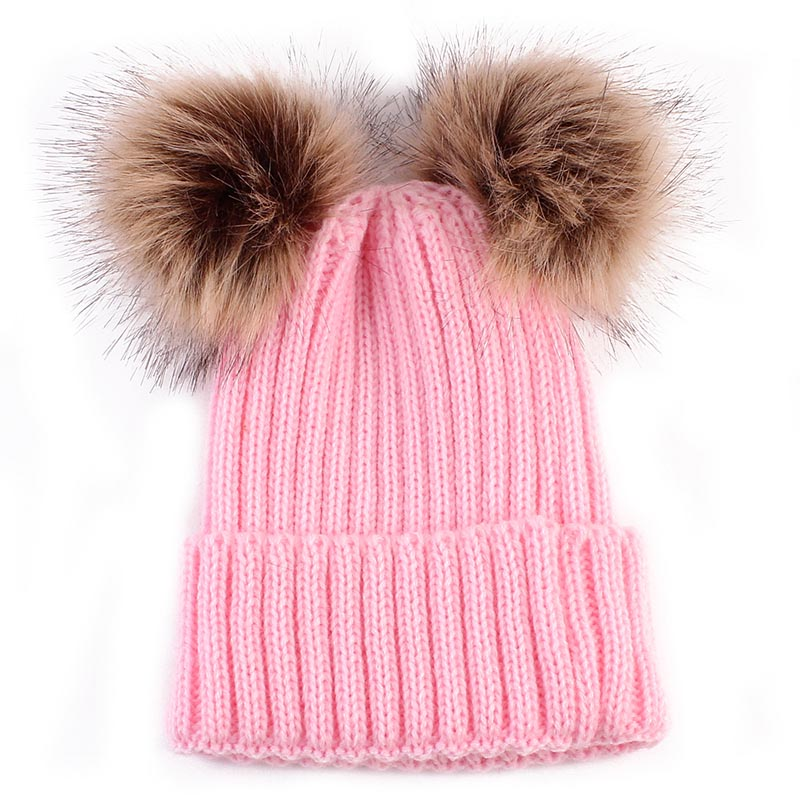 Newborn Winter Baby Girls Warm Hat Cap Beanie Kids Children Winter Warm Lovely Knitted Wool Hats Caps 12 Styles rabbit fur hat fashion thick knitted winter hats for women outdoor casual warm cap men wool skullies beanies