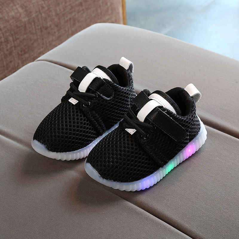 6b6240f46 Kids Shoes 2018 New Fashion Children Shoes With Light Led Luminous Glowing  Sneakers Baby Toddler Boys