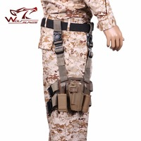 Military Tactical CQC 1911 Pistol Holster SET Drop Leg&Waist Belt with Magazine&Flashlight Pouch Airsoft Hunting Accessories