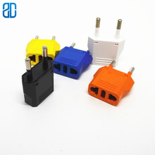 10PCS  US To EU Plug Power Adapter Travel Converter Wall Charger