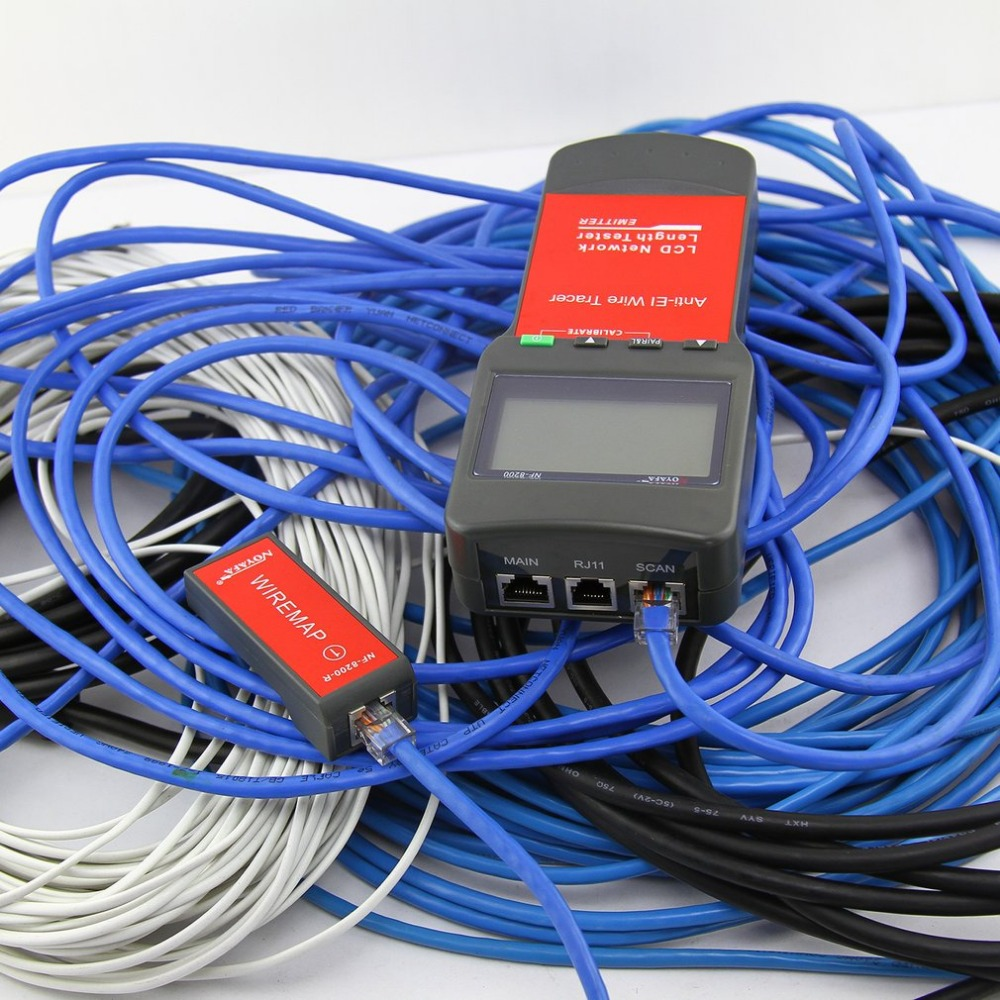 Noyafa LAN RJ45 testeur de câble réseau Ethernet testeur de longueur de câble avec écran LCD rétro-éclairage - 3