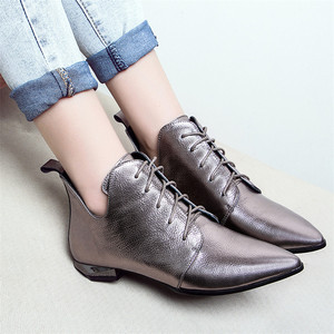 Image 5 - Fedonasファッション女性アンクルブーツcorss縛ら低かかと秋の女性靴女性ポインテッドトゥパーティーウエディングパンプス女性 2021 ブーツ