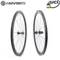 Far sports FSC38 TM 23 DT240 Chinese OEM bike wheel carbon,38mm profile 23mm wide tubular road bicycle wheelset