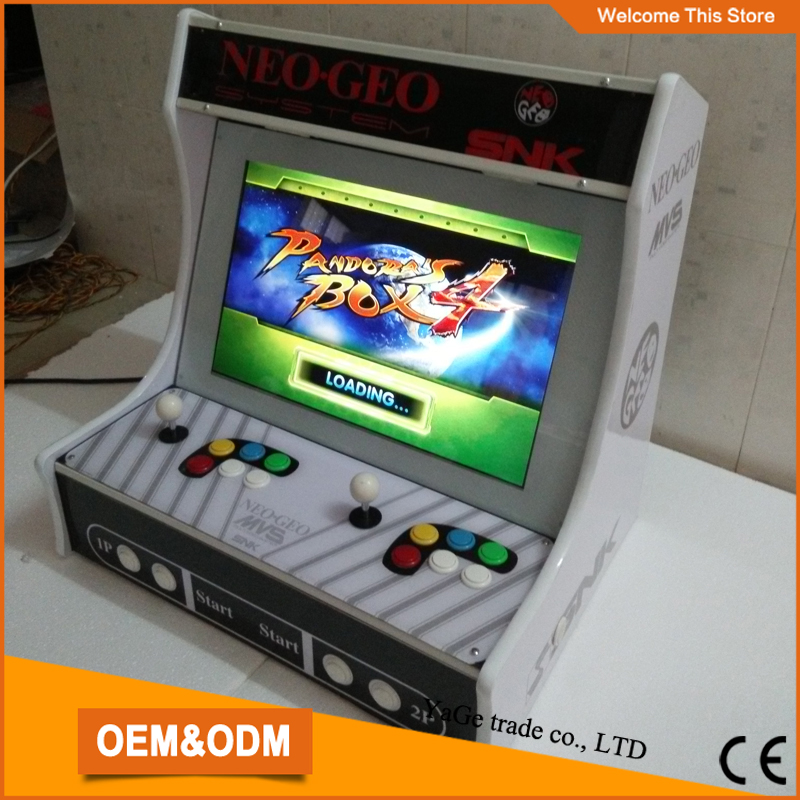 online shopping 22 inch LCD verticle table cabinet with 645 in 1 game bord & SANWA joystick button& 1, 2 player sanwa button and joystick use in video game console with multi games 520 in 1