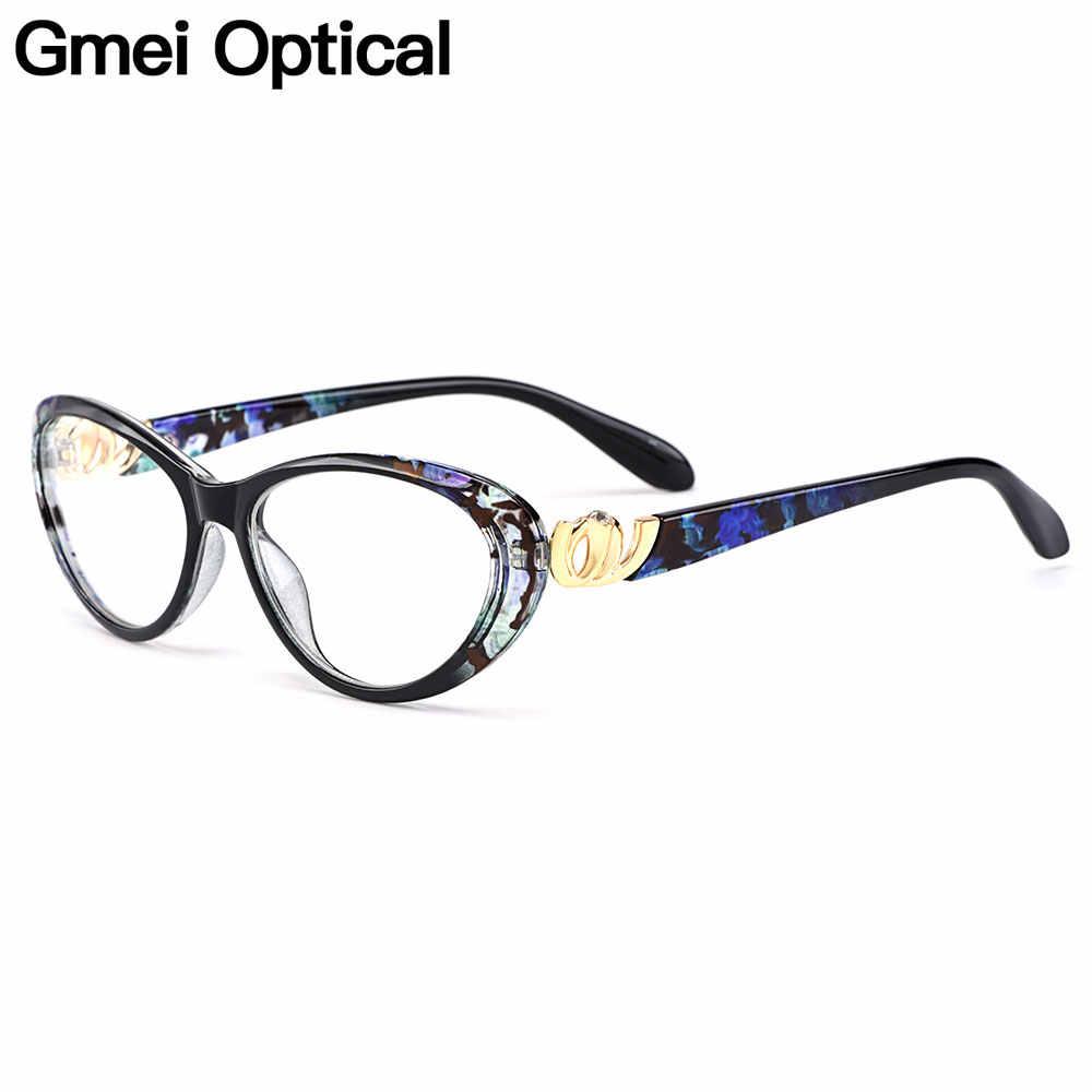 Gmei Ottico Urltra-Light TR90 Occhio di Gatto Delle Donne di Stile del Cerchio Pieno Vetri Ottici Cornice di Plastica Femminile Miopia Presbiopia Occhiali m1460