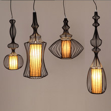 OLOEY Chandelier OC Special Customization Industrial wind Bird Cage Creativity Room light LED Iron art Cafe bar Lamps(China)