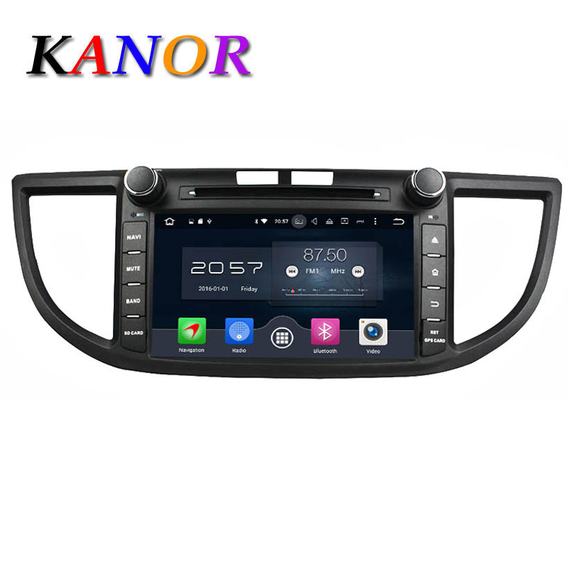 KANOR Android 6 0 Octa Core 2G 32G Car DVD Player For Honda CR V 2012
