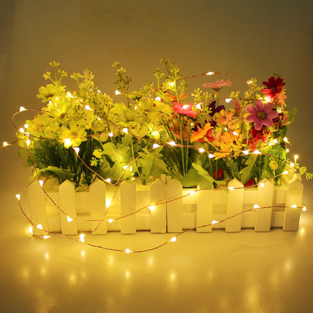 3AA Battery Powered Copper Wire Lights 4M 40 LEDs Starry String Lights for Outdoor, Gardens, Homes, Dancing, Christmas Party