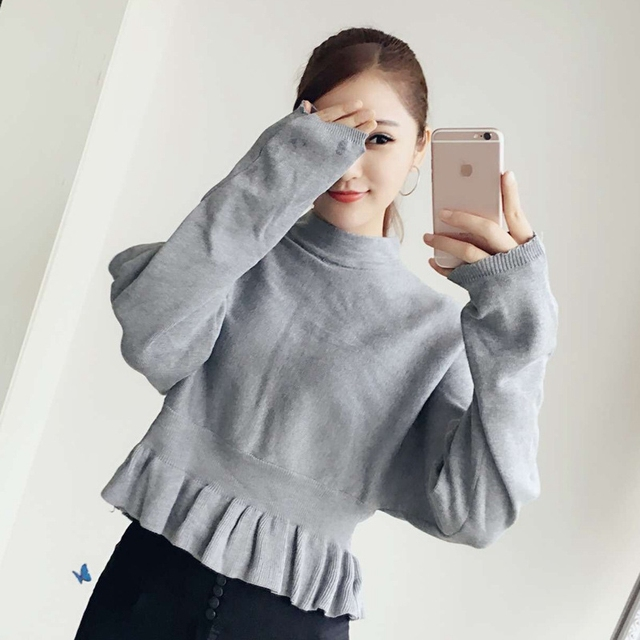 2016 autumn sweater women Long sleeve Loose pullovers Bat shirt batwing sleeve sweater female pull femme