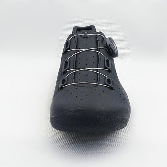 Hyper original ciclismo sapatos calor moldável 3 k fibra de carbono bicicleta de estrada tênis 1 cadarços auto-bloqueio termoplástico bicicleta 5